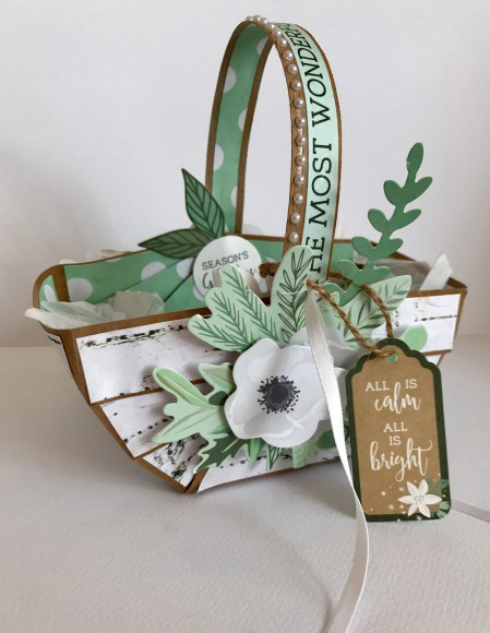 Christmas Basket Mint Wishes - Lady Lair