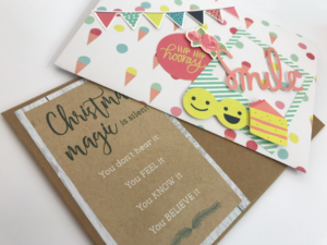 Christmas and birthday envelopes from template - Lady Lair